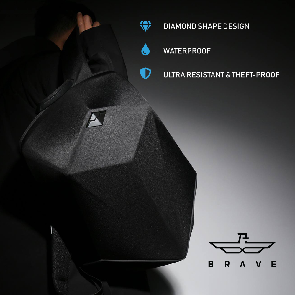 BRAVE BACKPACK  WITH BLUETOOTH SPEAKER & 5000MAH POWER BANK