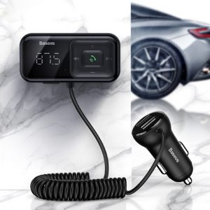 Baseus T typed S16 wireless MP3 car charger Black